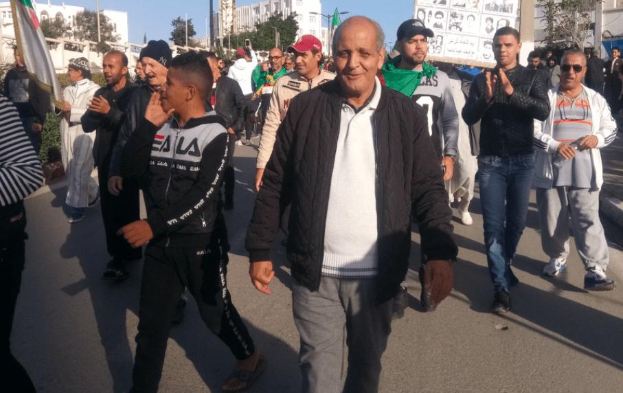 Saci Belgate dans les manifestations du Hirak algérien