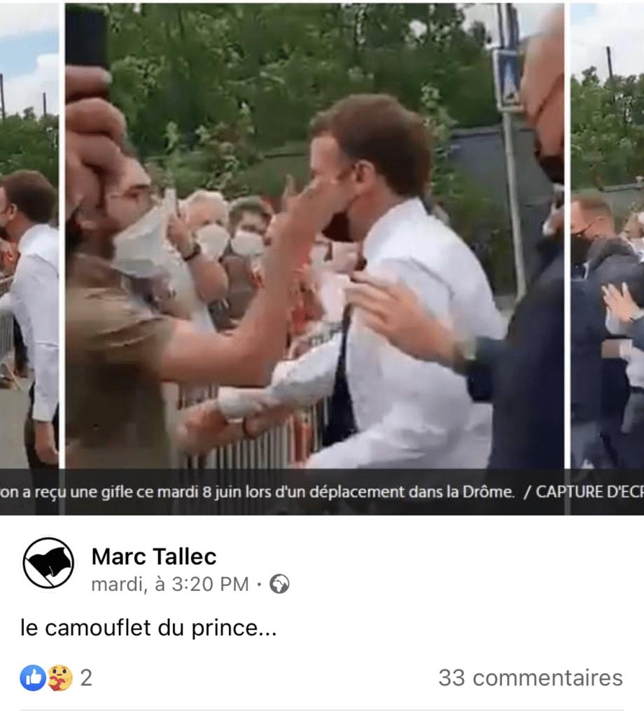 Agression d'Emmanuel Macron