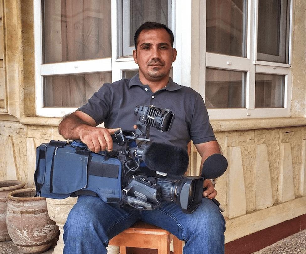 Dernière image de Bakhtayer Haddad, reporter de France 2, avant sa mort, à Mossoul